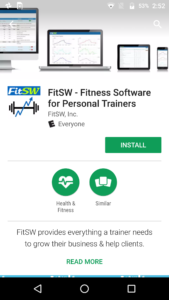 The FitSW Android App is now on the Google Play Store. Try it today.