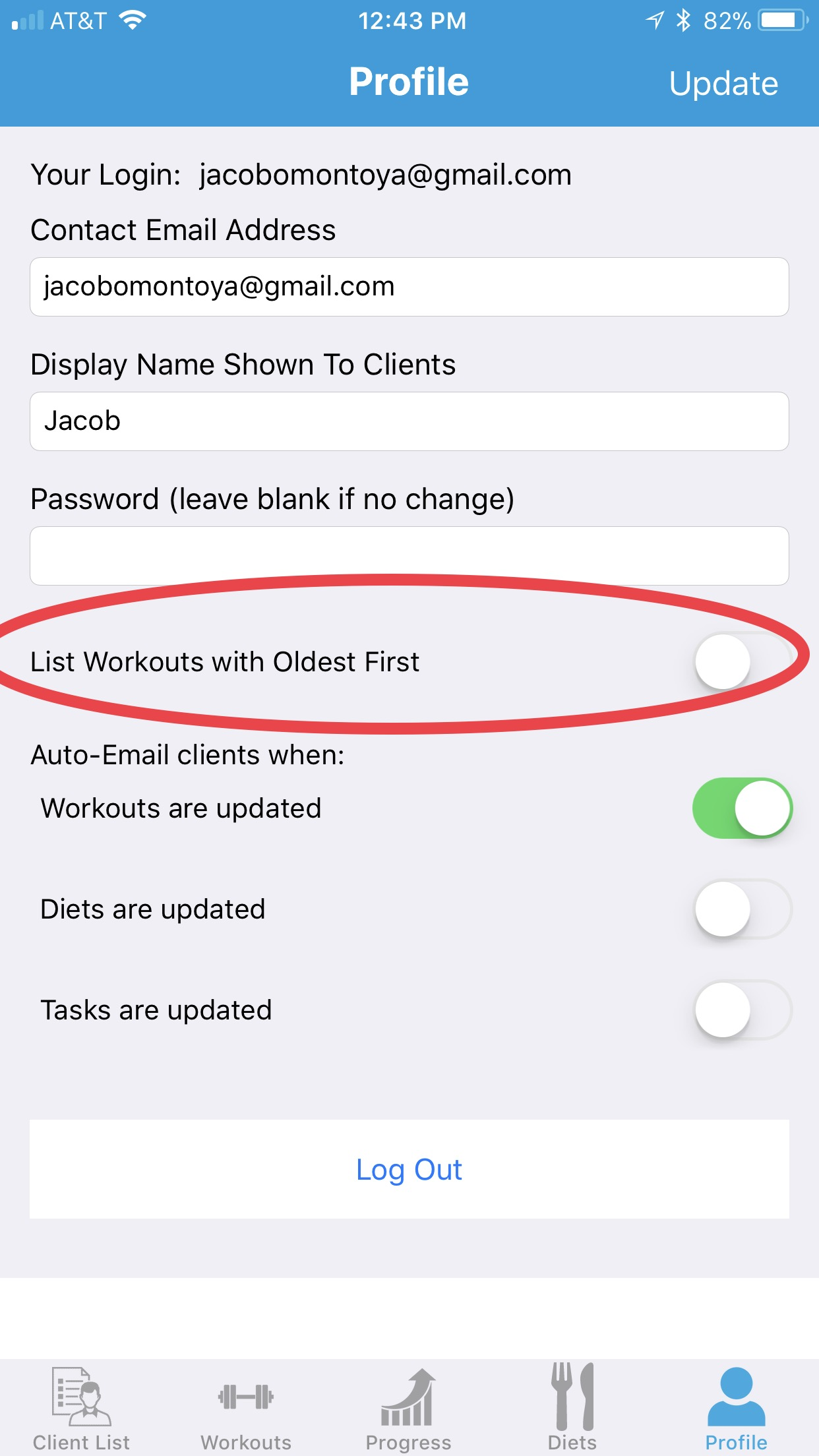 You can now choose the display order for your workouts, tasks, and events on your profile tab. Total Diet Macros Display as well.