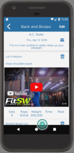 Personal Trainer Software Android App Viewing Workout