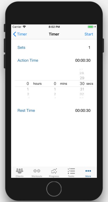 Workout Timer App Personal Trainer Setup Timer