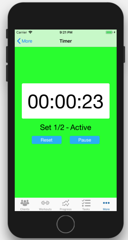 iOS Interval Timer App Personal Trainer Running Example