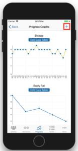 Client Fitness Progress Tracking Add Progress
