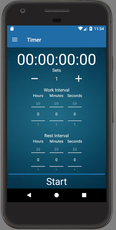 Personal Trainer App Android Workout Interval Timer